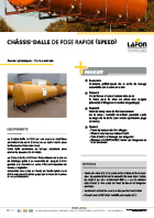 Chassis dalle cuves enterrees
